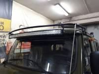 Кронштейн для установки веткоотсекателей и светодиодной балки на а/м УАЗ-452. Разборный