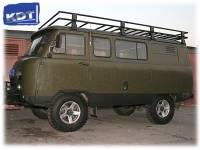 Багажник экспедиционный алюминиевый - УАЗ Буханка KDT