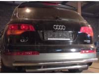 Защита заднего бампера двойная 63,5 мм Audi Q7