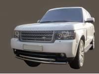 Передняя защита двойная Landrover Randge Rover Vogue