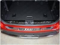 Накладка на задний бампер LADA X-Ray (нерж)