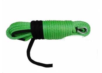 Трос для лебедки синтетический 10мм*28 метров (зеленый)
